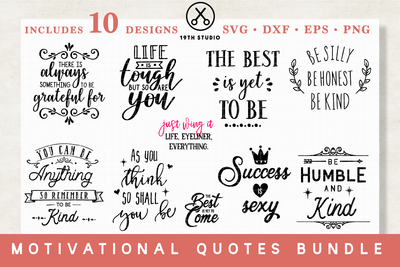 Motivational SVG Bundle - M16 Craft House SVG - SVG files for Cricut and Silhouette