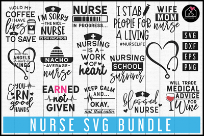 Nurse SVG Bundle | MB69 Craft House SVG - SVG files for Cricut and Silhouette