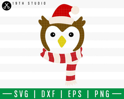 Owl Chritsmas SVG | M42F8 Craft House SVG - SVG files for Cricut and Silhouette