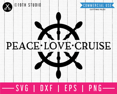 Peace love cruise SVG | M48F | A Summer SVG cut file Craft House SVG - SVG files for Cricut and Silhouette