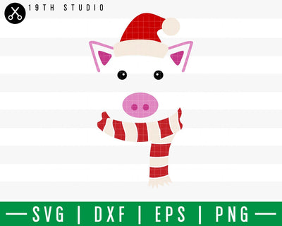 Pig Chritsmas SVG | M42F11 Craft House SVG - SVG files for Cricut and Silhouette