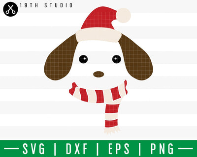 Puppy Chritsmas SVG | M42F12 Craft House SVG - SVG files for Cricut and Silhouette
