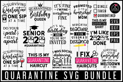 Quarantine SVG Bundle | MB75 Craft House SVG - SVG files for Cricut and Silhouette