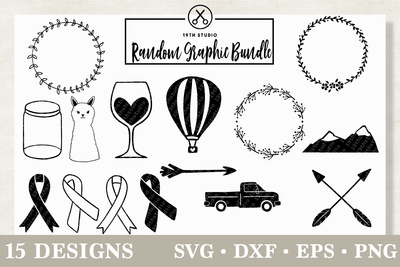 Random Graphic SVG bundle - M12 Craft House SVG - SVG files for Cricut and Silhouette
