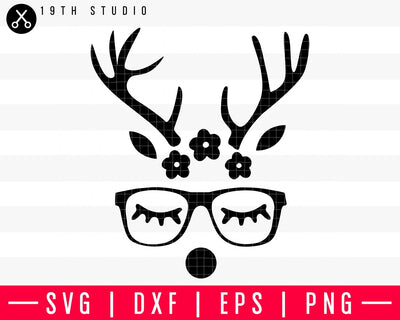 Reindeer girl SVG | M37F9 Craft House SVG - SVG files for Cricut and Silhouette