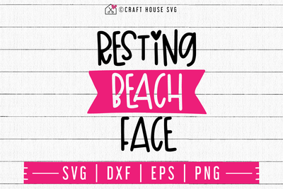 Resting beach face SVG | M48F | A Summer SVG cut file Craft House SVG - SVG files for Cricut and Silhouette