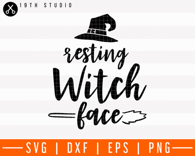 Resting witch face SVG | M28F16 Craft House SVG - SVG files for Cricut and Silhouette