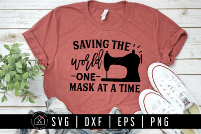 Saving the world one mask at a time SVG | M77F Craft House SVG - SVG files for Cricut and Silhouette