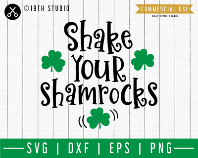 Shake your Shamrocks SVG | A St. Patrick's Day SVG cut file M45F Craft House SVG - SVG files for Cricut and Silhouette