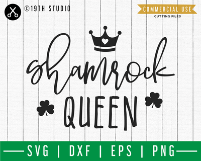 Shamrock queen SVG | A St. Patrick's Day SVG cut file M45F Craft House SVG - SVG files for Cricut and Silhouette