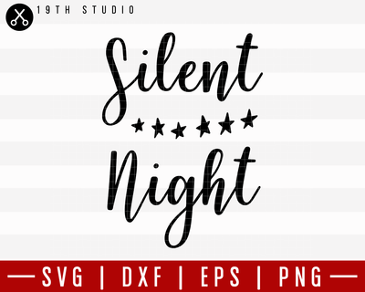 Silent Night SVG | M21F50 Craft House SVG - SVG files for Cricut and Silhouette