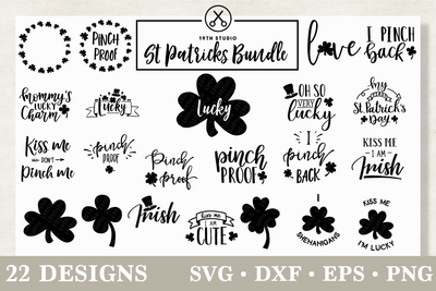 St. Patrick's Day SVG Bundle - M18 Craft House SVG - SVG files for Cricut and Silhouette