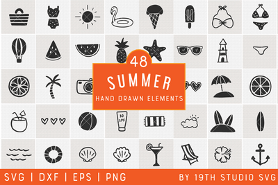 Summer Illustration Bundle | VB32 Craft House SVG - SVG files for Cricut and Silhouette