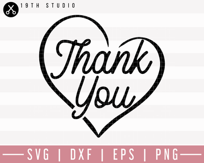 Thank You SVG | M27F25 Craft House SVG - SVG files for Cricut and Silhouette