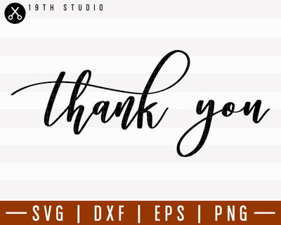 Thank You SVG | M6F10 Craft House SVG - SVG files for Cricut and Silhouette