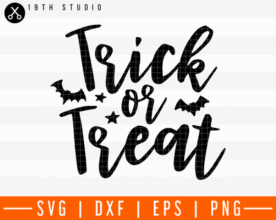 Trick or treat SVG | M28F17 Craft House SVG - SVG files for Cricut and Silhouette