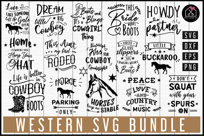 Western SVG Bundle | MB76 Craft House SVG - SVG files for Cricut and Silhouette