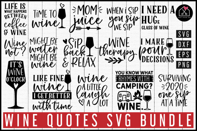 Wine SVG Bundle | MB85 Craft House SVG - SVG files for Cricut and Silhouette