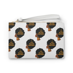 I Am Black History Afro Woman Clutch Bag
