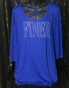 Finer Cross Neckline Shirt