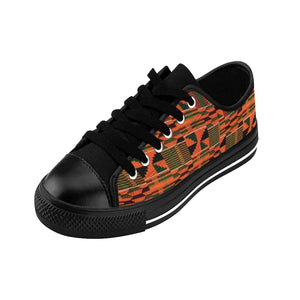 Orange Kente Low Top Sneakers