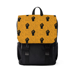 Black Fist Pattern Backpack