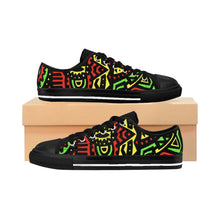 Red & Green Tribal Low Top Sneakers