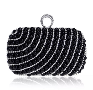 Pearl Swirl Clutch Purse