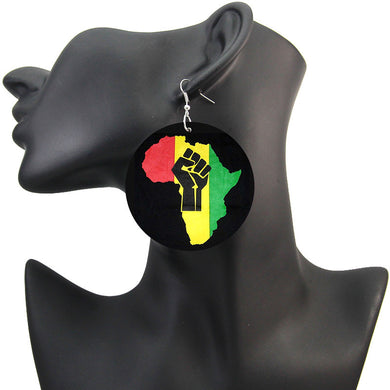 Africa with Fist Earrings