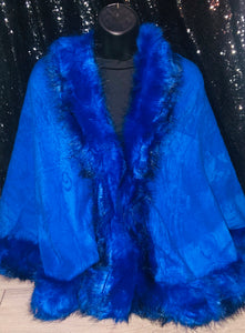 Royal Blue Shawl