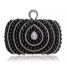 Pearl Rhinestone Clutch Purse