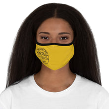 Golden Proud Mom Fitted Polyester Face Mask