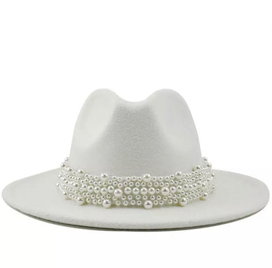 White Pearls Galore Fedora