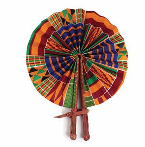 Kenyan Kente Folding Fan