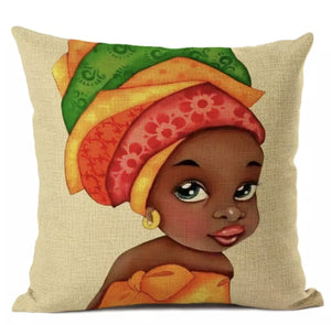 Headwrap Princess Throw Pillows