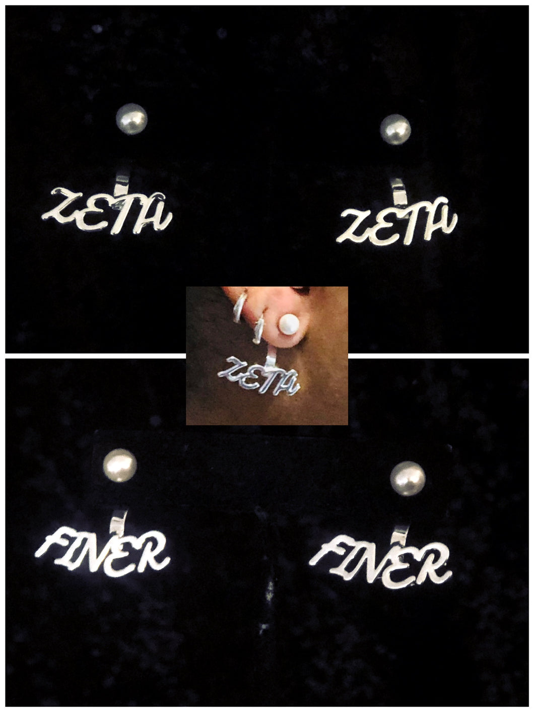 Finer Zeta 2 Piece Pearl Earrings