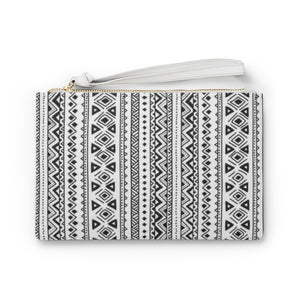Black and White Tribal Clutch Bag