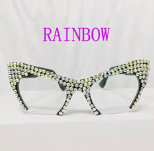 Bling Rhinestone Cat Eye Glasses
