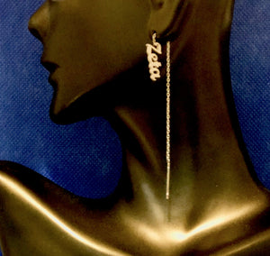 Finer Zeta Threader Earrings