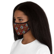 White Diamond Pattern Fitted Polyester Face Mask