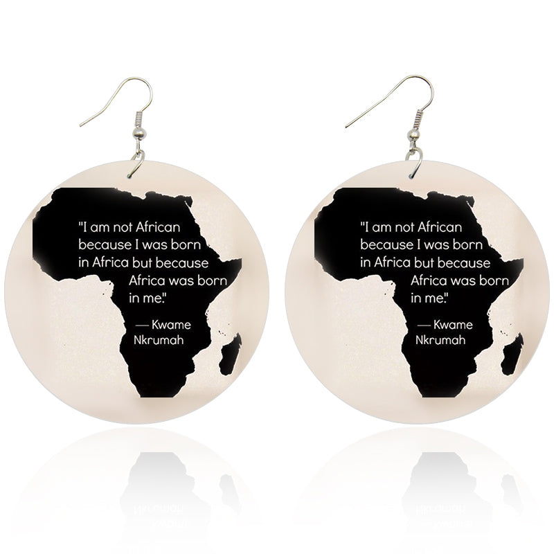 Kwame Nkrumah Africa Quote Earrings