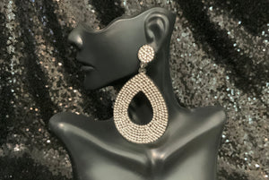 Rhinestone Felt Earrings