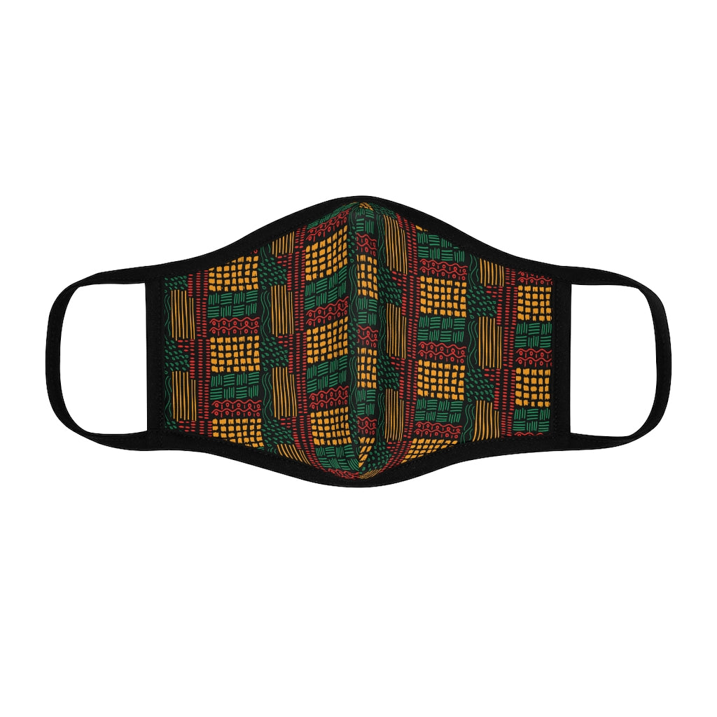 Lana Green Pattern Fitted Polyester Face Mask