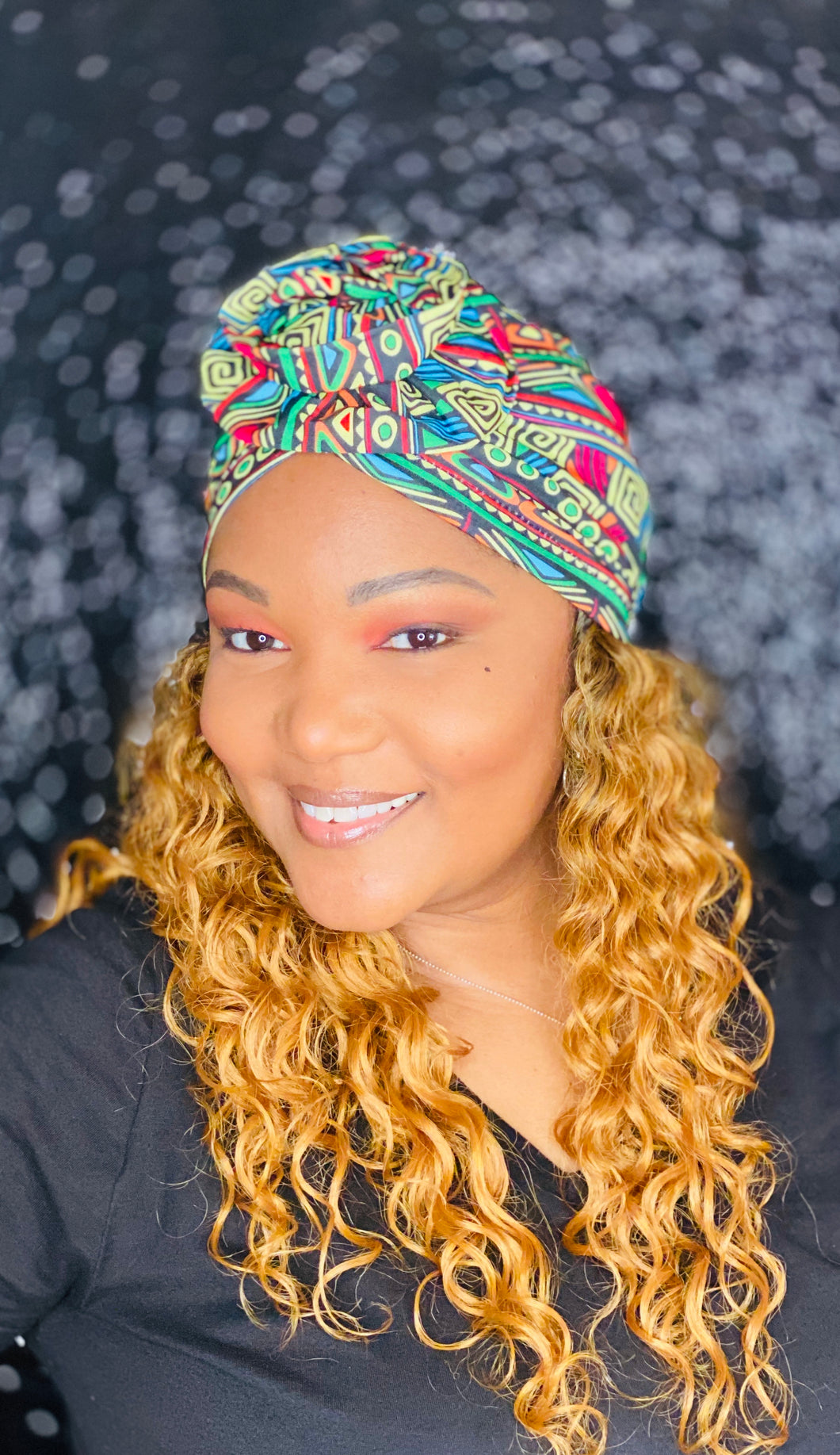 Green Multi Tribal Geo Turban