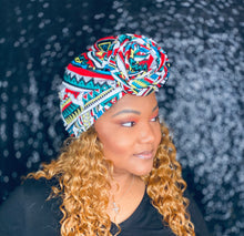 Red Tribal Pre-tied Headwrap