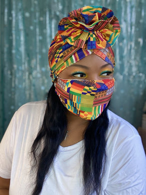 Multi Tribal Turban and Mask Set