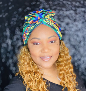 Green and Yellow Turban