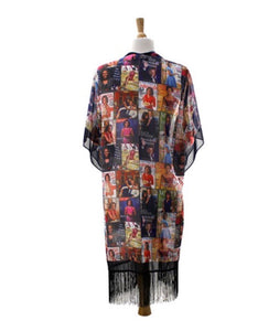 Limited Edition Multicolor Obama Magazine Kimono