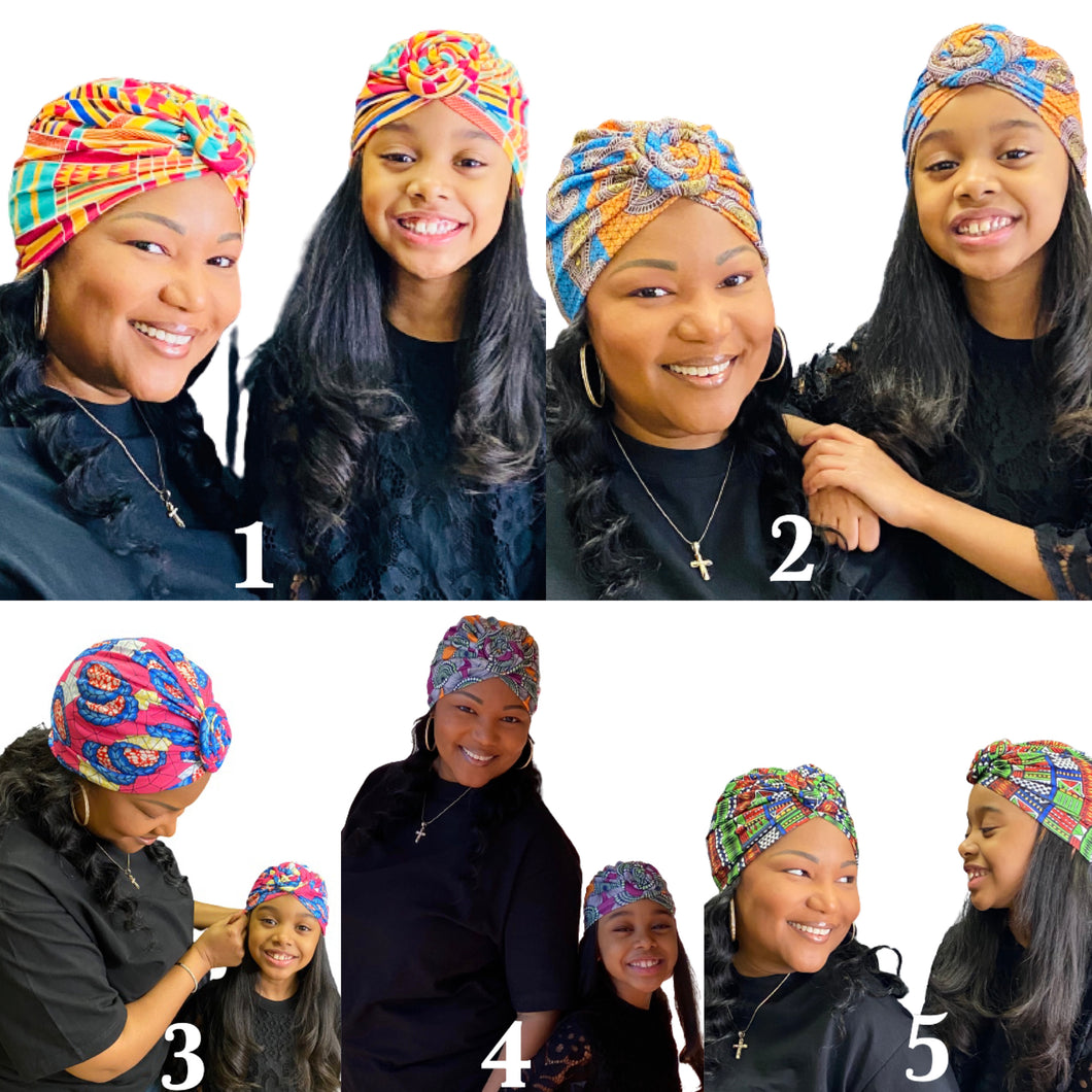 Adult and Kid Turban Sets