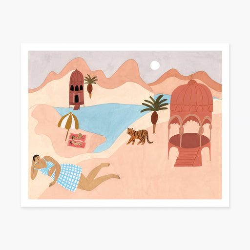 Quiet Beach Art Print